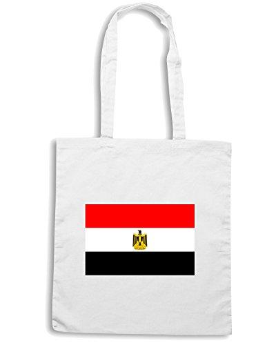 T-Shirtshock - Bolsa para la compra TM0185 egyptian-flag-logo flag Blanco