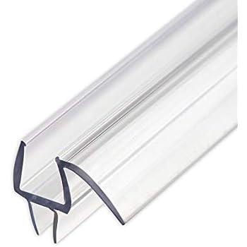 Pro Grade USA Frameless Shower Door Bottom Seal With Drip Rail - 3/8