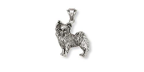 Papillon Jewelry Sterling Silver Papillon Pendant Handmade Dog Jewelry PA8-P (Papillon Charm)