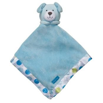 Carter's Blue Dog Puppy Snuggle Buddy Security Blanket with Polka Dots - Puppy Dog Security Blanket