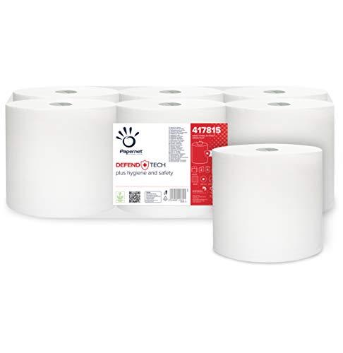 Papernet Autocut Defend Tech 417815 rol | 6 stuks | papieren handdoeken met antibacteriële formule | 2-laags | pure…