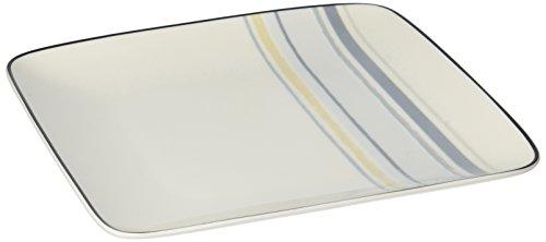 Swirl Square Accent Plate - Noritake Java Graphite Swirl 7-1/2-Inch Square Plate