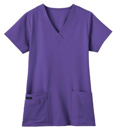 Jockey Women's Scrubs V-Neck Crossover Scrub Top, Purple, XL -