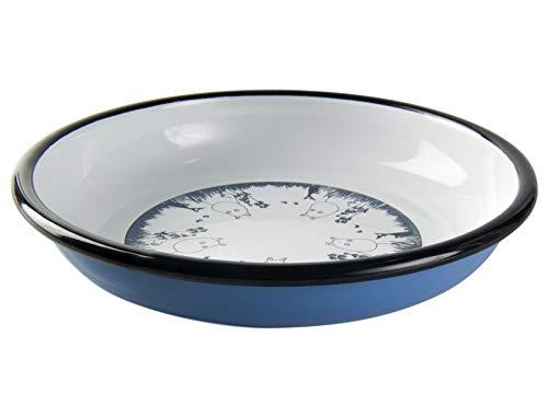 Moomin Muurla Enamel Plate 18cm Friends Blue