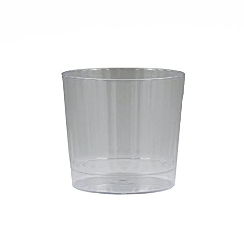Maryland Plastics 10 Count Lumiere Tumbler Rocks, 9 oz., (Scanalato Champagne Vetro)