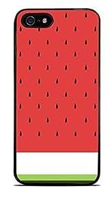 Cute Watermellon Design Black Hardshell Case for iPhone 5 / 5S