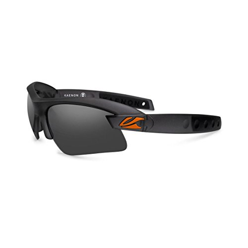 Kaenon X-Kore Polarized Sunglasses Graphite/Orange Logo/Grey 12-Polarized, One Size - - Kore Sunglasses Kaenon
