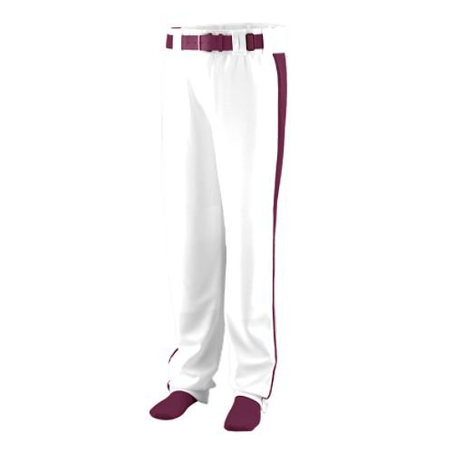 Pants Baseball Mens Deluxe - Baseball/Softball Pants Deluxe Side Pipping Augusta 14-ounce Relaxed Fit