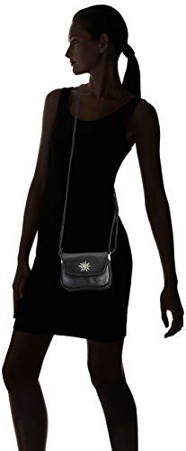 Lady Edelweiss Trachtentasche - Bolso de hombro de piel sintética mujer negro - negro