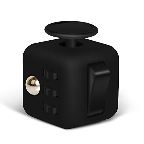 6 Sides Relieve Stress Fidget Cube For Fidgeter! Fidget Dice Anti-anxiety Toy for Children and Adults(Red/Black) - 2