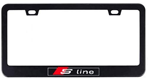 quattro black license plate frame - 1