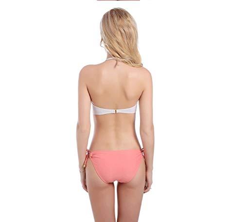 bikini Pour maillot Nylon Mode Rose Estivale Mode Bain M coloré De La maillot Zhrui À Bikini Dames Taille En qvxRw1nz