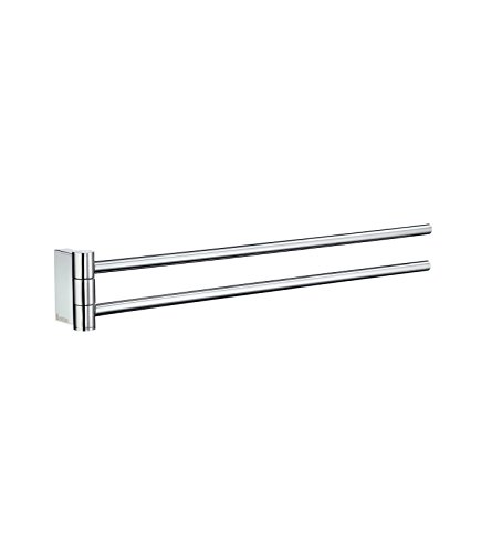 Smedbo Double Towel (Smedbo SME_AK326 Towel Rail Swing-Arm, Polished Chrome)