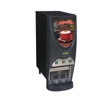 iMIX-3S Plus Hot Drink Dispenser, Cappuccino Display, 3 Hoppers, Black ()