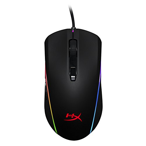 ge - RGB Gaming Mouse, Software Controlled 360° RGB Light Effects & Macro Customization, Pixart 3389 Sensor up to 16,000DPI, 6 Programmable Buttons, Mouse Weight 100g (HX-MC002B) ()
