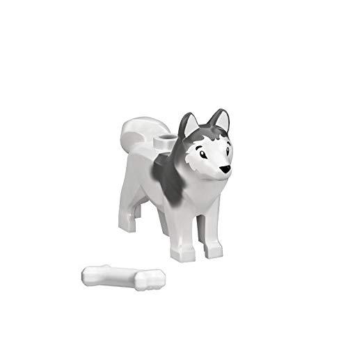 LEGO Animal Minifigure Husky Arctic Sled Dog with Bone (Aprox. 1