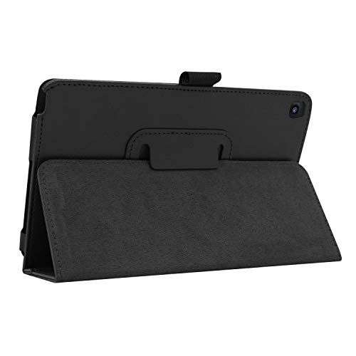 Ratesell Galaxy Tab A 8 (2019) Case, Multi-Angle Stand Slim-Book PU Leather Case Cover with Stylus Slot Holder Compatible with Samsung Galaxy Tab A 8 (2019) SM-P200 ; SM-P205 Black