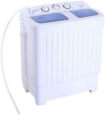 Portable Mini Compact Twin Tub 11lb Washing Machine Washer Spin Dryer