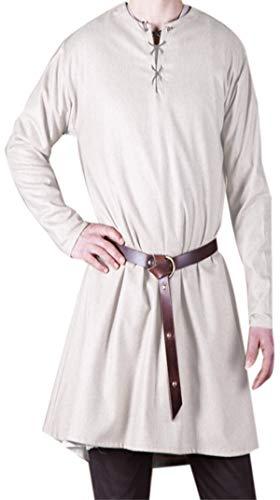 Medieval Knight Fantasy Viking,Celtic Norseman Elven Mens Shirt Tunic Surcoat LARP,SCA Size S -