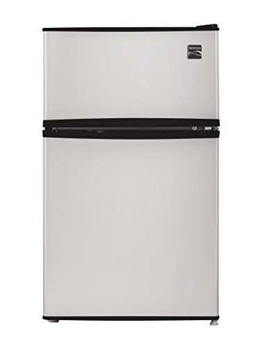 - Kenmore 99033 Compact Mini Refrigerator, 3.2 cu. ft. in Metallic Silver