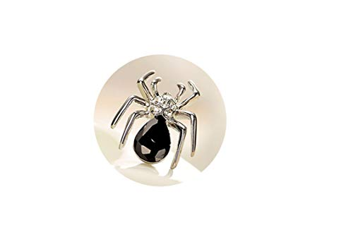 New Costume Rhinestone Spider Brooches Fashion Crystal Brooch Pins for Women Jewelry Gold/Silver Plated Collar ()
