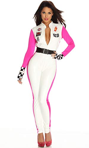 Wonder Lingerie Plus Women's Formula 1 Style Racer Nascar Driver Halloween Party Costume