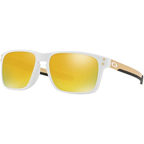 Oakley Men's Holbrook Mix (a) Non-Polarized Iridium Rectangular Sunglasses, Polished White, 57.0 - Holbrook White Oakley