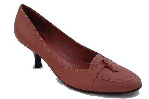 bow ladies brown Via winter with leather court or detail shoes in Available Uno pink soft T55wqg8