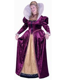 [Adult Plus Size Queen Elizabeth Costume-Sizes 16-24] (Medieval Queen Plus Size Costumes)