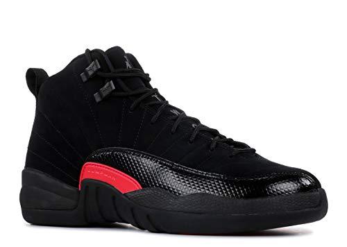 Nike Air Jordan 12 Retro Big Kids'/Men's Shoes Black/Dark Grey/Rush Pink 510815-006 (8 D(M) US)