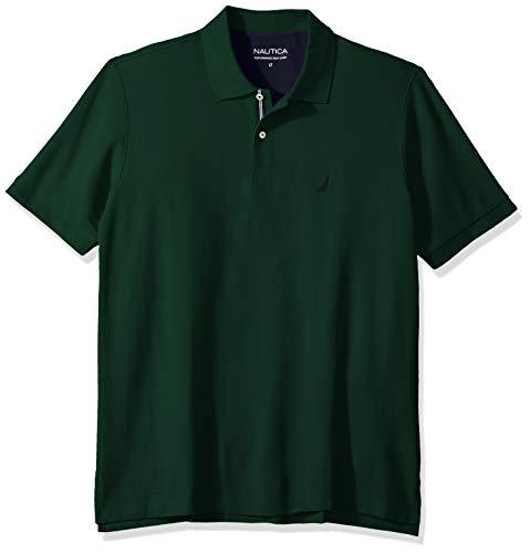 Classic Fit Green - Nautica Men's Classic Fit Short Sleeve Solid Performance Deck Polo Shirt, tidal Green, 3X Big