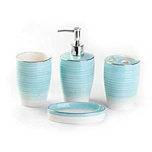 316M-7vPFUL._SS300_ 70+ Beach Bathroom Accessory Sets and Coastal Bathroom Accessories 2020