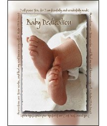 Baby Dedication Certifcate - 5x7 folded, Premium, Full Color (pack of 6) by Warner Press