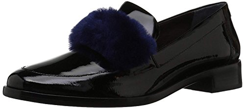 Loeffler Randall Women's Greta (Patent/Shearling) Penny Loafer, Black/Eclipse, 5 M (Black Eclipse Casual Shoes)
