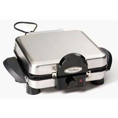 VillaWare V6150 4-Square Belgian Waffler/Multi-Baker, Stainless Steel by Villaware
