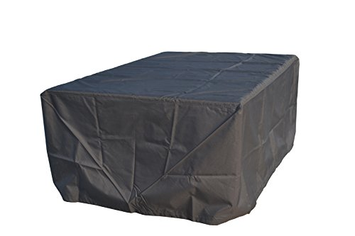 Direct Wicker Rectangular Patio Table & Chair&Sofa Set Cover - Durable and Water Resistant Outdoor Furniture Cover, Black, Large (84x60x32 inches)