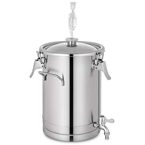 VEVOR Stainless Steel Fermenter Brewmaster Brewing Equipment for Home Beer Brewer 4 gallon Sliver