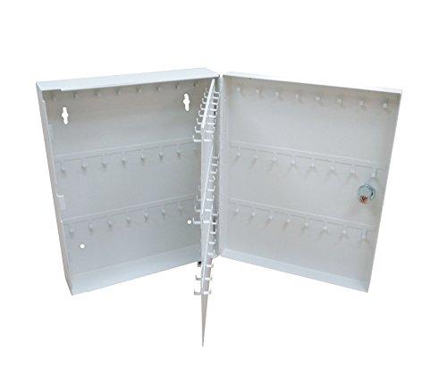 Secure Steel Key Storage Cabinet 93 Keys Gray Box Garage Wall Organizer Lock NEW 15124 by FixtureDisplays (Image #4)