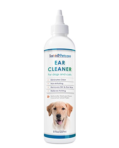 Ear Dry Solution (Dog Ear Cleaner Gently Removes Wax Dirt & Odor – Relieves Itching Cleans Away Infection Causing Bacteria & Yeast – Professional Strength Natural Formula - Made in USA)