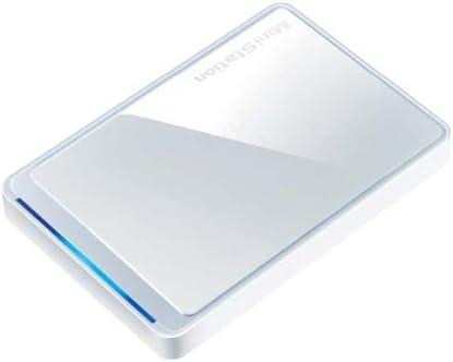 BUFFALO プレミアム&スリムボディ ポータブルHDD 640GB ホワイト HD-PCT640U2-WH