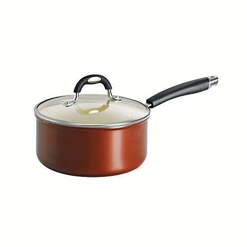 Tramontina 80110/049DS Style Ceramica 01 Covered Sauce Pan, 3-Quart, Metallic Copper