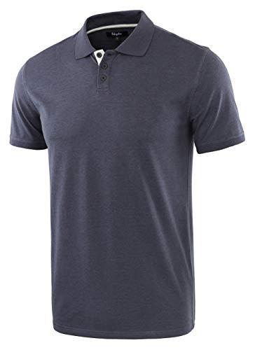 (Estepoba Men's Casual Athletic Regular Fit Short Sleeve Jersey Polo Sport Shirt C.Blue/H.Oatmeal XL)