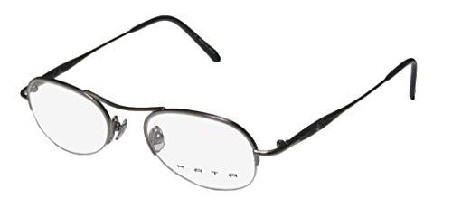 Kata Noa Mens/Womens Designer Half-rim Color Combination Fashion Accessory Eyeglasses/Eyewear (47-19-140, Gray)