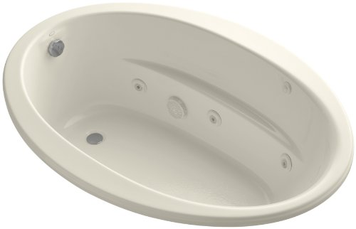 Kohler K-1162-H-47 Sunward 5Ft Whirlpool with Heater, Almond