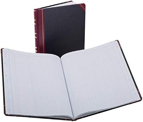 Boorum & Pease Series Columnar Book, 6 Column, 150 Page, Black/Red (1602 1/2-150-6)