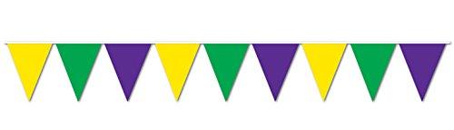 WeGlow International WGI Mardi Gras Pennant Banner - Mardi Gras Pennant Banner