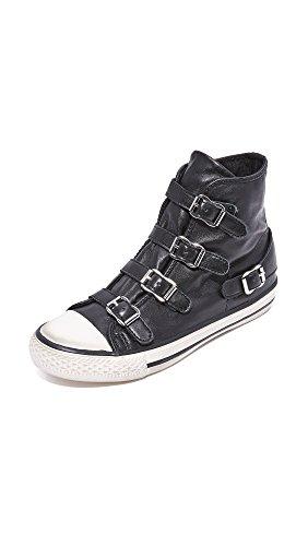 Ash Women's Virgin Fashion Sneaker, Black, 36 EU/6 M US by Ash