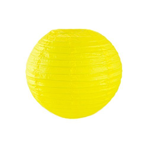 10-Colorful-ChineseJapanese-Hanging-Paper-Lanterns-Metal-Frame-for-Parties-Home-Lamps-Event-Decoration-10-Pack-by-Super-Z-Outlet-Yellow