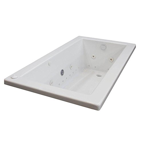 Sapphire Diamond Series 5 ft. Left Drain Jetted Bathtub in White