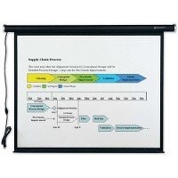 Quartet Electric Wall or Ceiling Mount Projection Screen, 70 x 70, Three-Position Switch